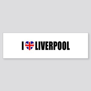 I Love Liverpool Bumper Sticker