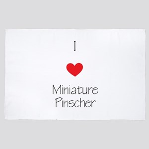 I Love Miniature Pinchers 4' X 6' Rug