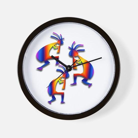 Three Kokopelli #19 Wall Clock