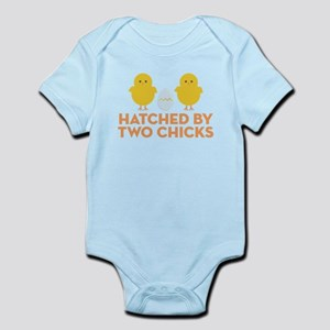 Hatched By Two Chicks Infant Bodysuit