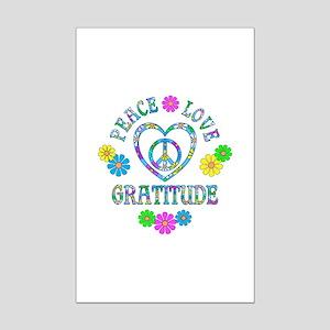 Peace Love Gratitude Mini Poster Print