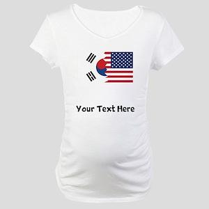 South Korean American Flag Maternity T-Shirt