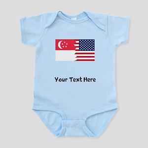 Singaporean American Flag Body Suit