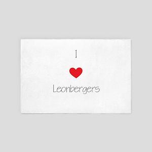 I Love Leonbergers 4' X 6' Rug