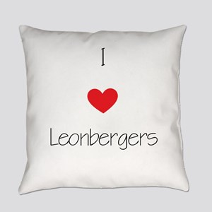 I love Leonbergers Everyday Pillow
