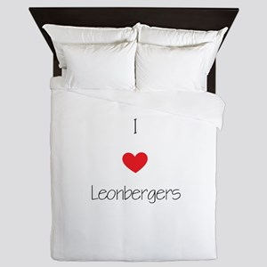 I love Leonbergers Queen Duvet