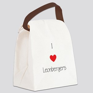 I love Leonbergers Canvas Lunch Bag