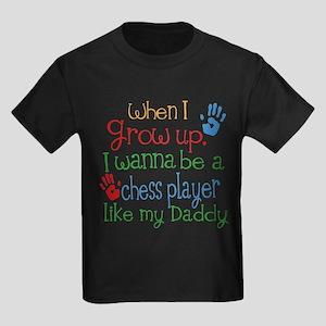 Chess Player Like Daddy Kids Dark T-Shirt