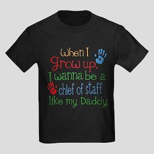 Chief of Staff Like Daddy Kids Dark T-Shirt