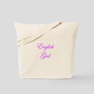 English Girl Tote Bag