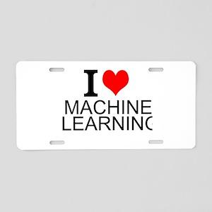 I Love Machine Learning Aluminum License Plate