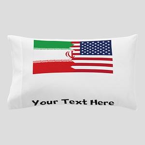 Iranian American Flag Pillow Case