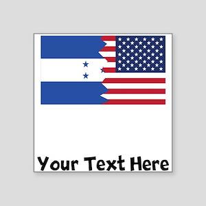 Honduran American Flag Sticker