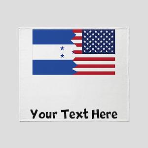 Honduran American Flag Throw Blanket