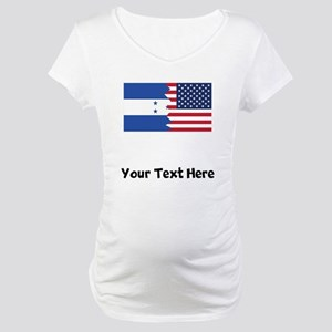 Honduran American Flag Maternity T-Shirt