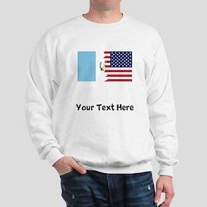 Guatemalan American Flag Sweatshirt