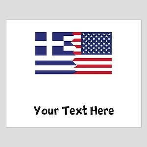 Greek American Flag Posters