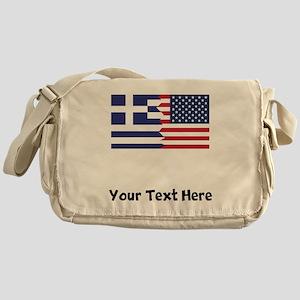 Greek American Flag Messenger Bag