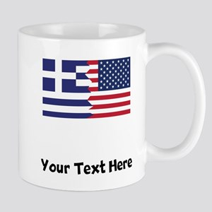 Greek American Flag Mugs
