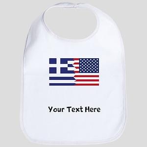 Greek American Flag Bib