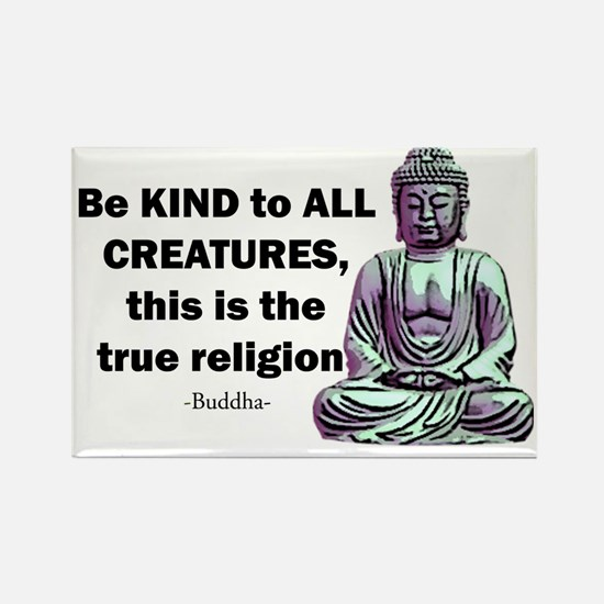 Cute Buddha quotes Rectangle Magnet