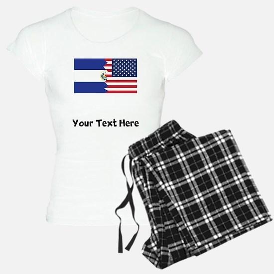 El Salvadorian American Flag Pajamas