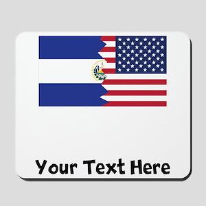 El Salvadorian American Flag Mousepad