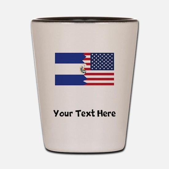 El Salvadorian American Flag Shot Glass
