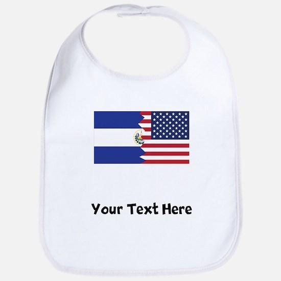 El Salvadorian American Flag Bib
