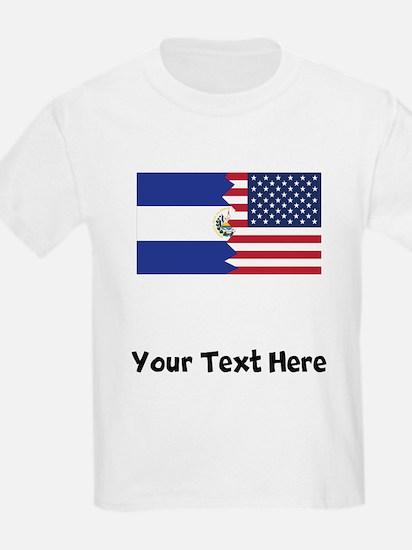 El Salvadorian American Flag T-Shirt