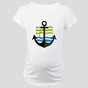 Nautical Anchor Trendy Summer De Maternity T-Shirt