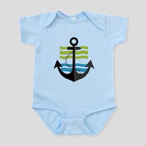 Nautical Anchor Trendy Summer Design Body Suit