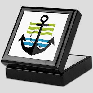 Nautical Anchor Trendy Summer Design Keepsake Box