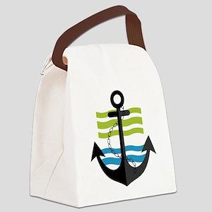 Nautical Anchor Trendy Summer Des Canvas Lunch Bag