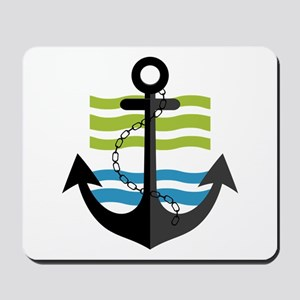 Nautical Anchor Trendy Summer Design Mousepad