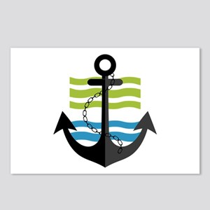 Nautical Anchor Trendy Su Postcards (Package of 8)