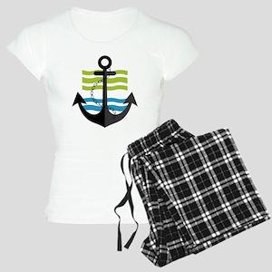 Nautical Anchor Trendy Summ Women's Light Pajamas