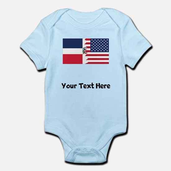 Dominican American Flag Body Suit