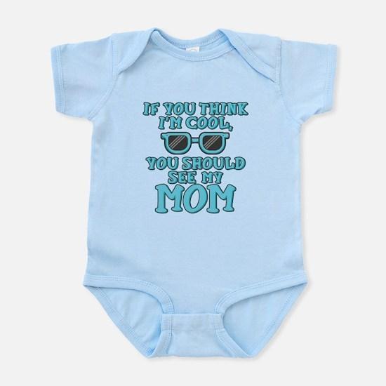 Cool Mom Blue Infant Bodysuit