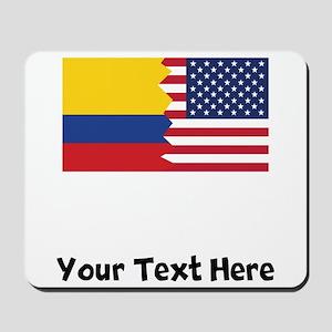 Colombian American Flag Mousepad
