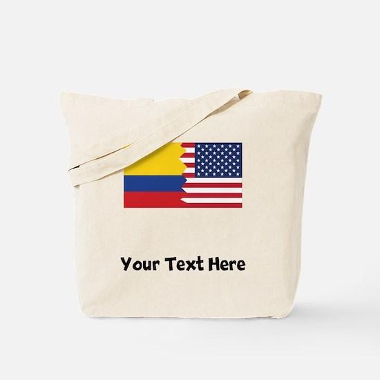 Colombian American Flag Tote Bag