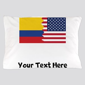 Colombian American Flag Pillow Case