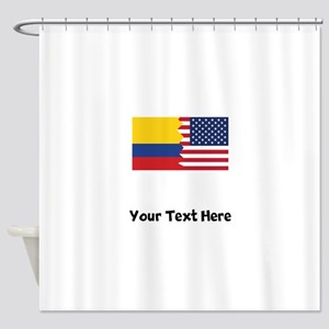 Colombian American Flag Shower Curtain