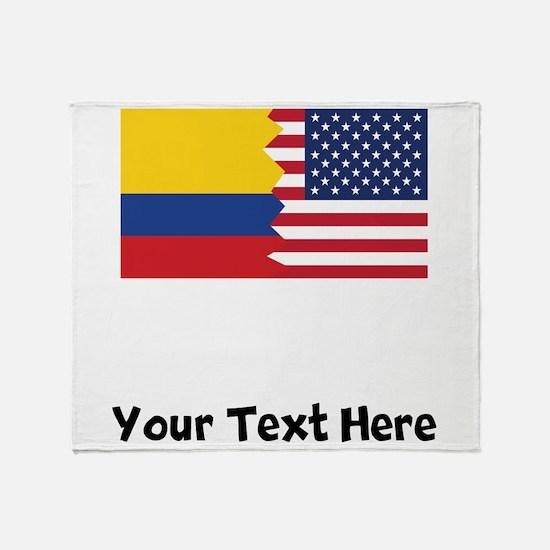Colombian American Flag Throw Blanket