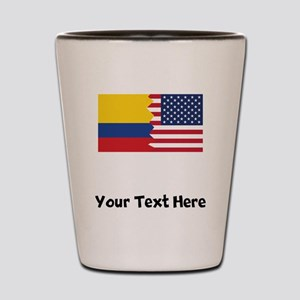 Colombian American Flag Shot Glass