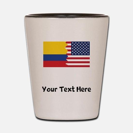 Colombian American Flag Shot Glass