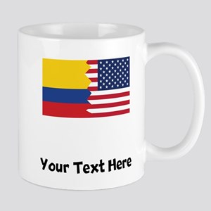 Colombian American Flag Mugs