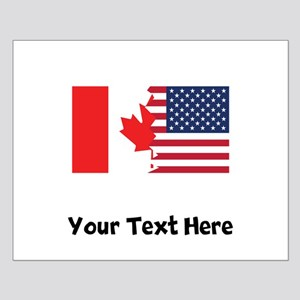 Canadian American Flag Posters