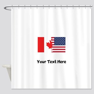 Canadian American Flag Shower Curtain