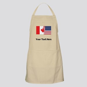 Canadian American Flag Apron